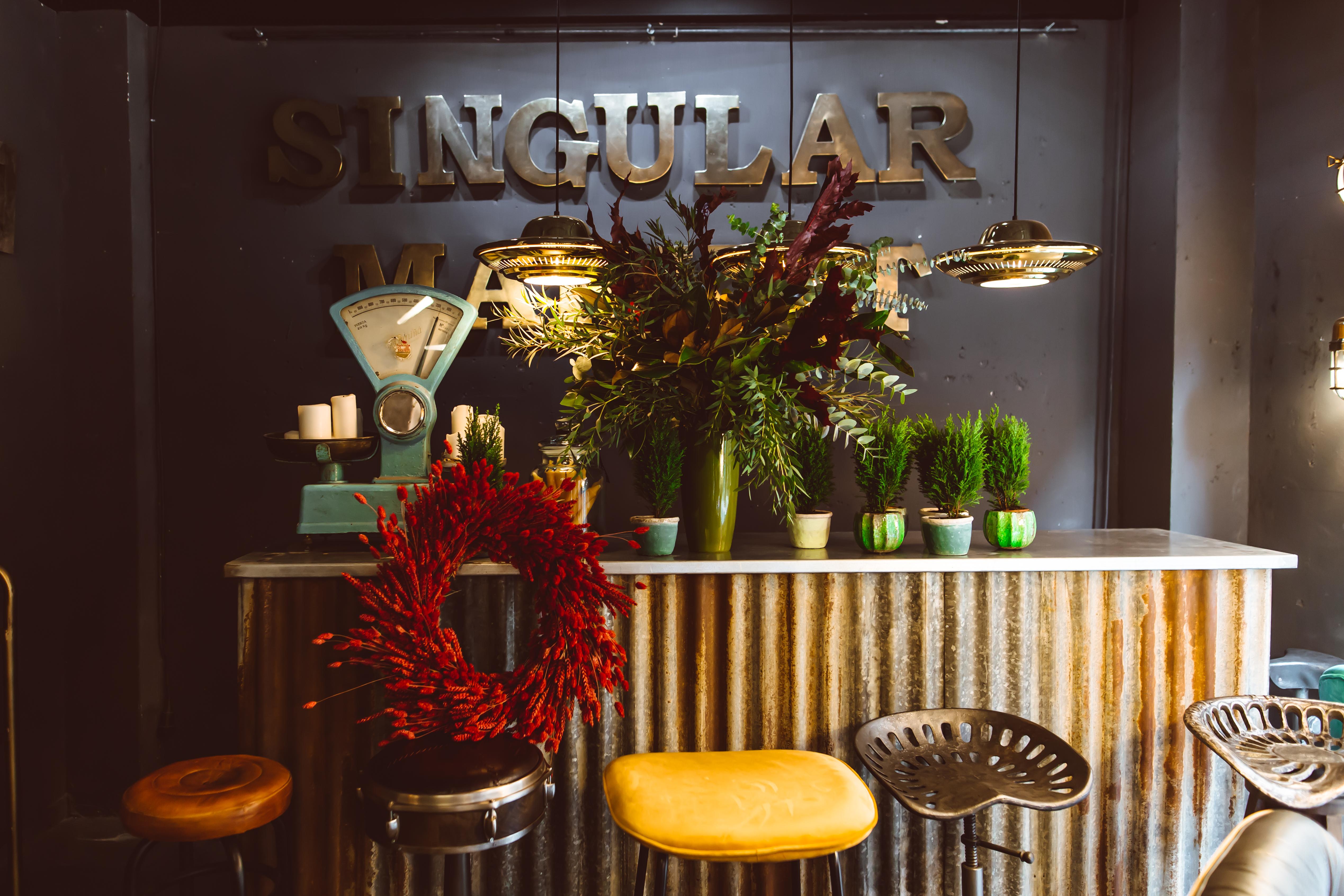 Singular Market acoge un Christmas Garden de la floristería Brumalis
