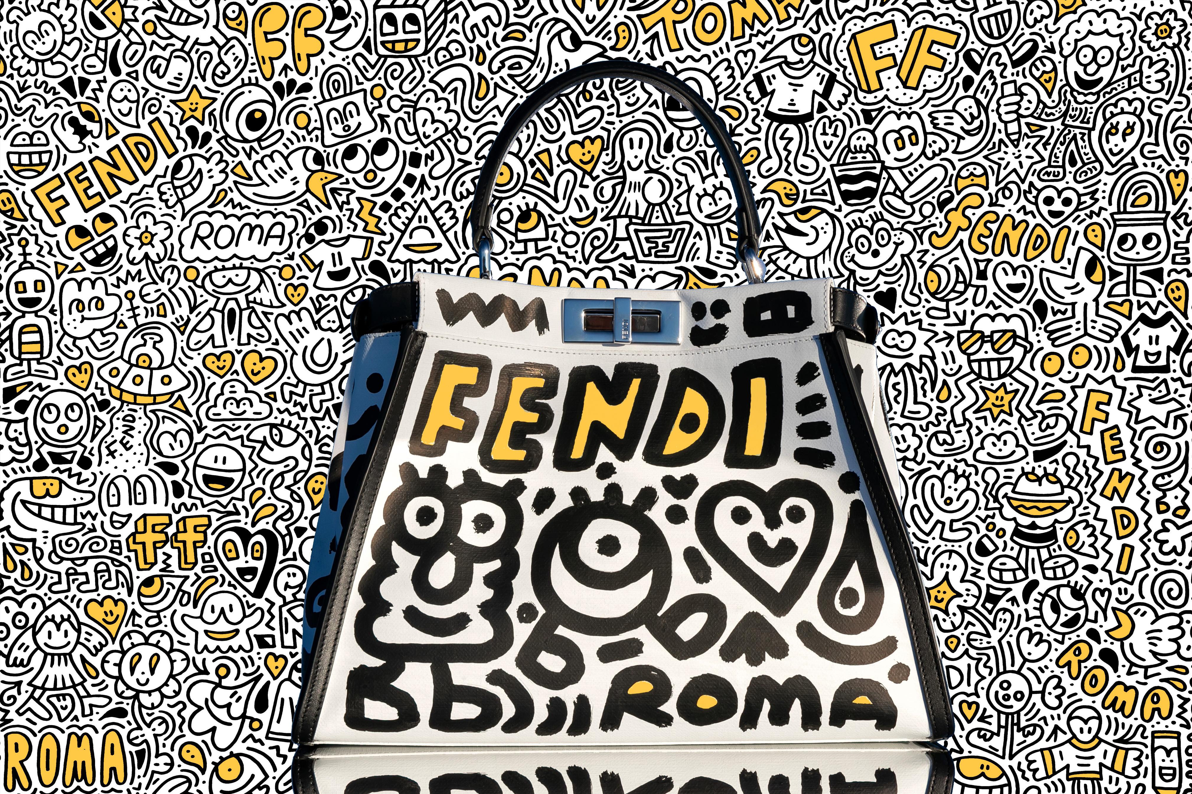 "F is for… Fendi: Doodling ""FENDI ROMA"""